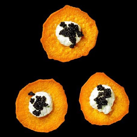 Sweet Potatoes with Caviar
