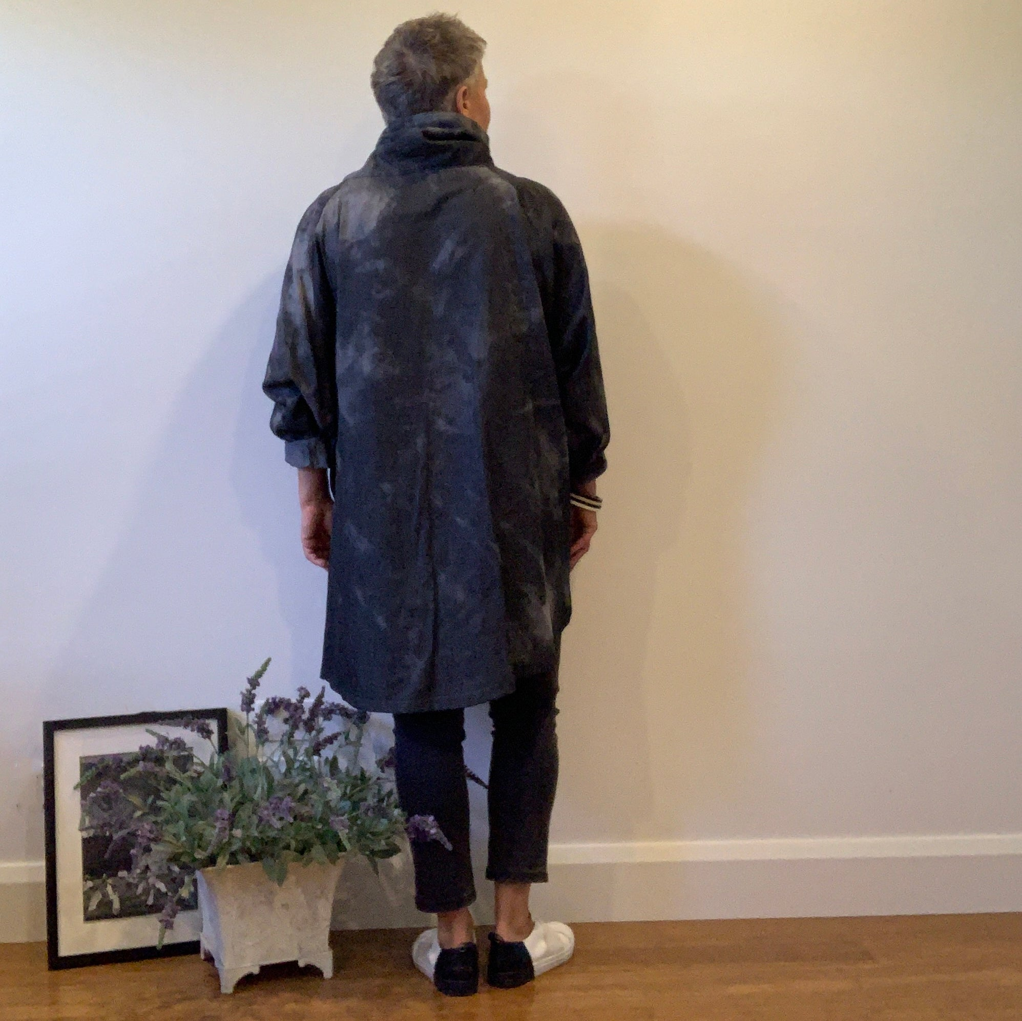 Winter Tunic -Charcoal Tie Dye