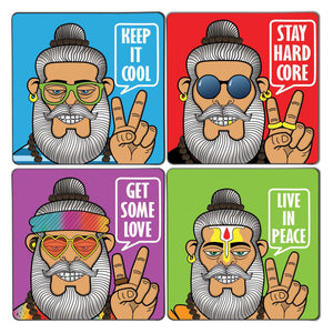 Cool Babaji Coaster Set