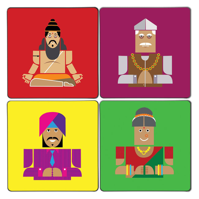 Desi Indians Coaster Set