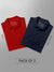 Men's Premium Polo T-Shirts (Pack of 2) - Navy Blue & Red