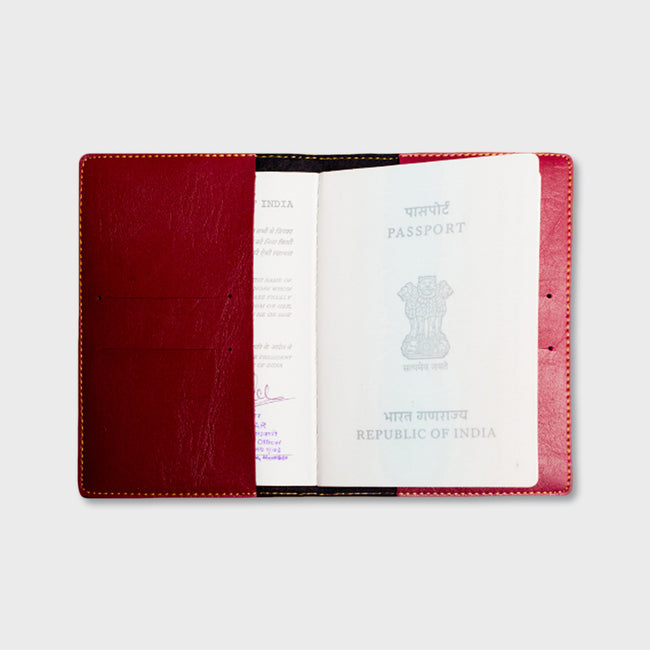 Maroon Passport Cover
