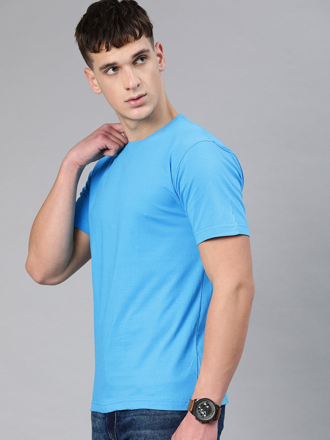 Sky Blue Round Neck T-Shirt