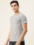 Melange Grey Round Neck T-Shirt