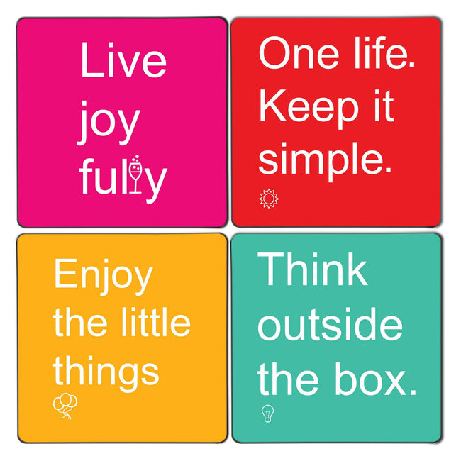 Life Quotes Coaster Set