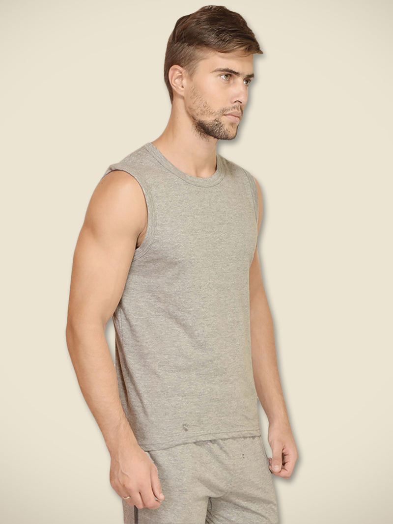 Grey Melange Male Vest