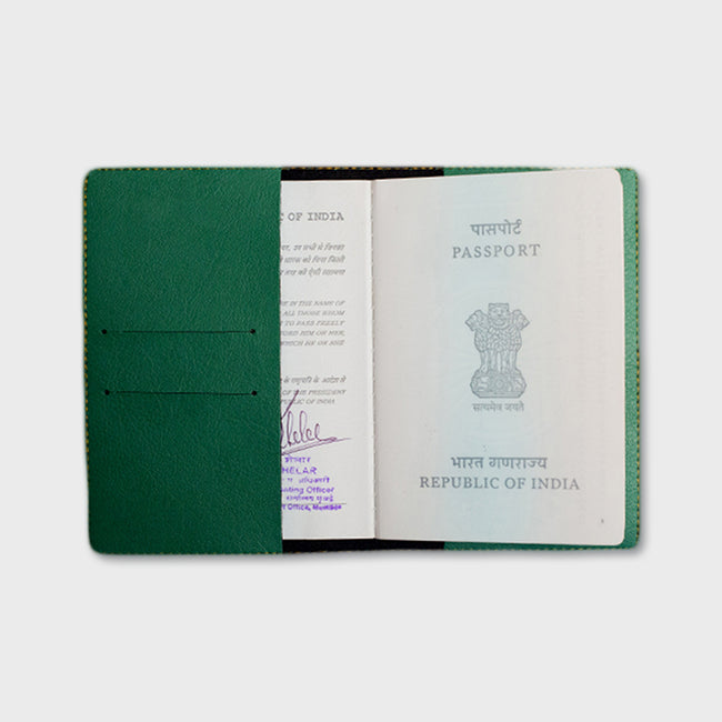 Green Passport Cover