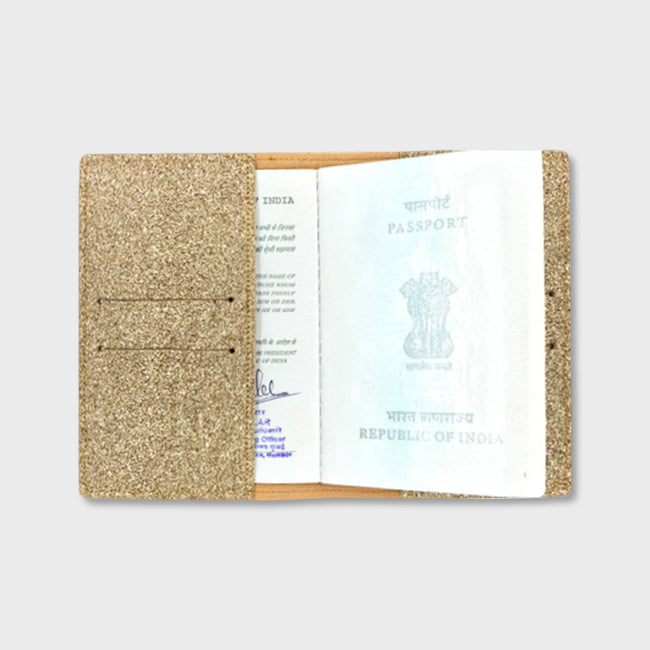 Glitter Gold Passport Cover