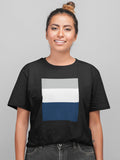 Triple Color Block Boyfriend T-Shirt