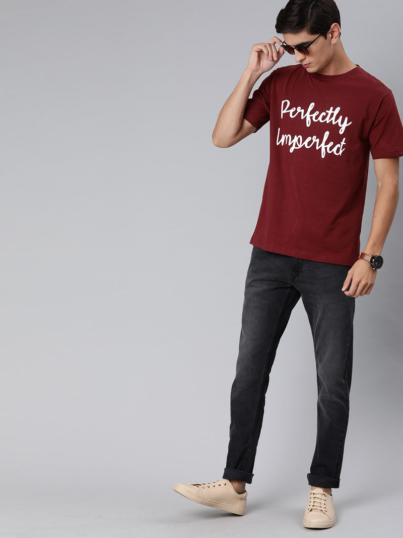 Perfectly Imperfect Half Sleeve T-Shirt For Men