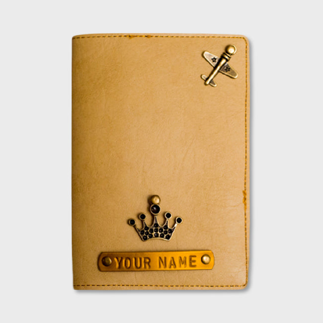 Biege Passport Cover