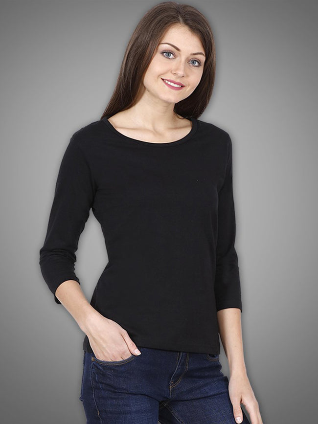 Black 3/4th Sleeves Top