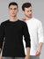 Black White Combo Full Sleeves Round Neck T-Shirt
