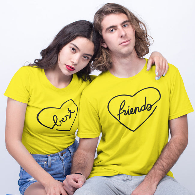 Best Friends Heart Couple Tee