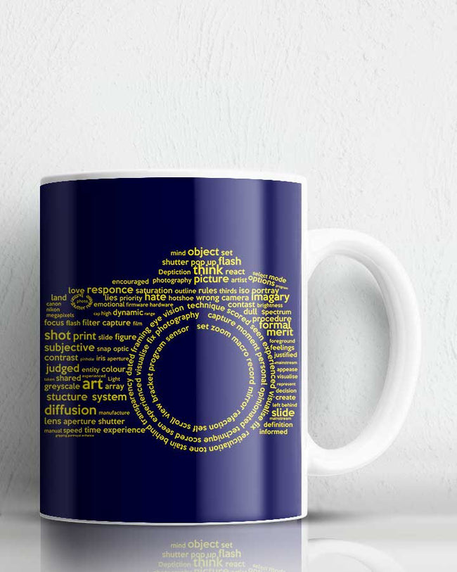 Camera Typography Coffee Mug