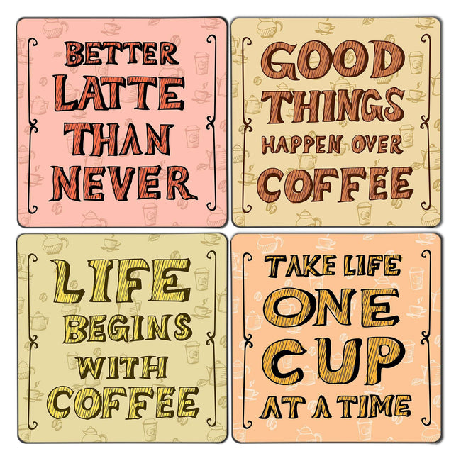 Coffee Life Coaster Set