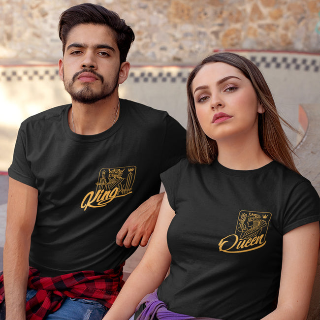 King Queen Pocket Couple Tee