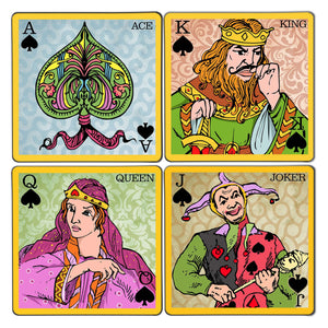 King & Queen Cards Coaster Set
