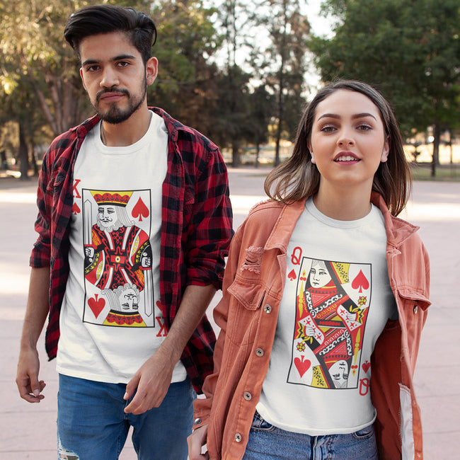 King Queen Cards Couple Tee