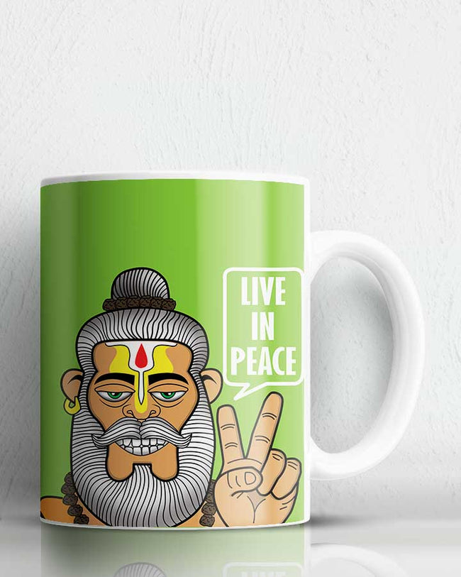 Peace Lover Babaji Coffee Mug