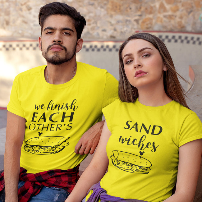 Sandwiches Couple Tee