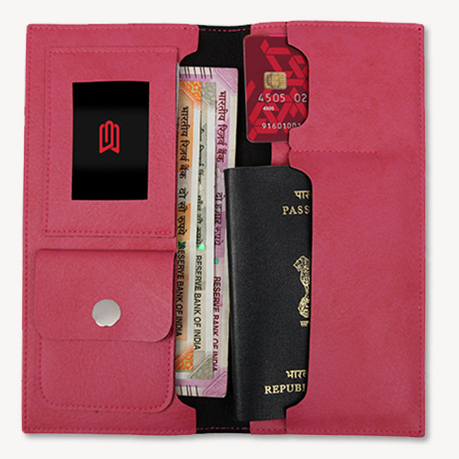 Pink Travel Wallet
