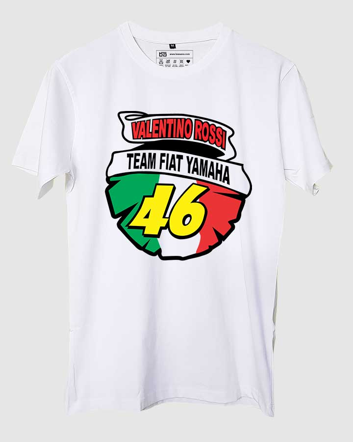 Valentino Rossi Half Sleeves T Shirt Cars And Bikes T Shirts Be Awar