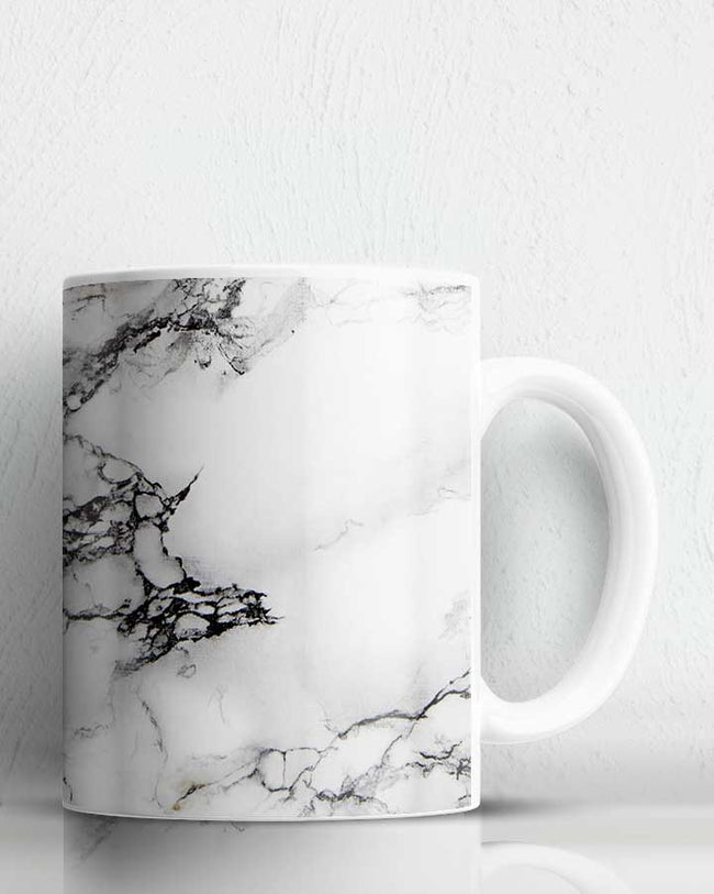 White Marble Print Coffee Mug
