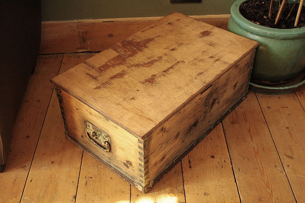 1939 Vintage Chest/Trunk Coffee Table - Arte Povera - 5