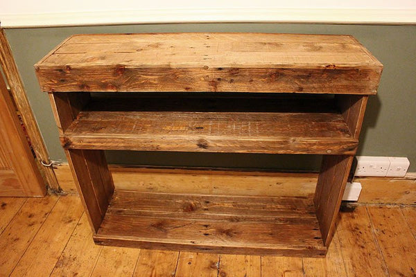 Rustic Console Table Handmade With Pallet Wood