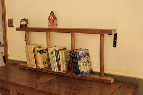 Bookshelves Made With 4 Steps Vintage Wooden Ladder