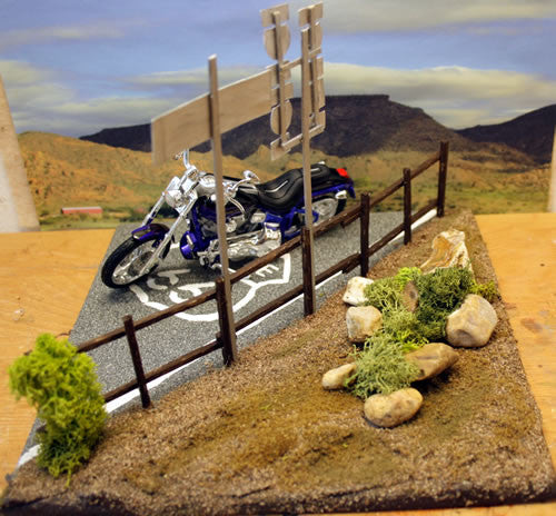 Harley Davidson Adrian Texas On Route 66 - Scale 1/18