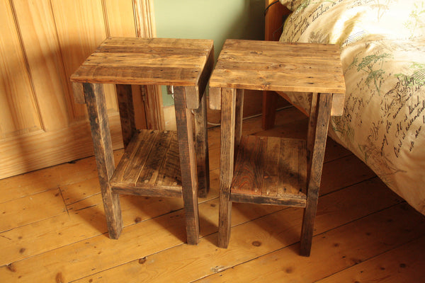 Rustic Bed Side Tables Made With Reclaimed Pallet - Arte Povera - 5