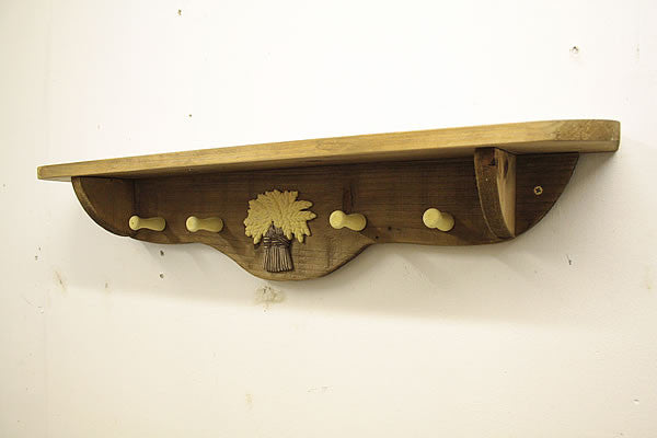 Coat Hanger With Wooden Pegs And Embellishment - Arte Povera - 5