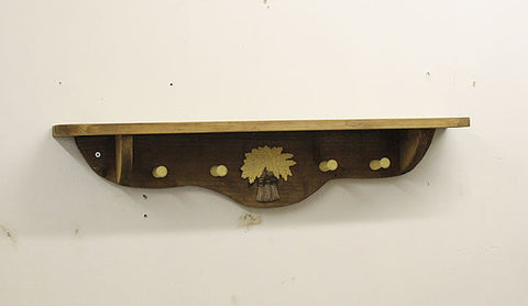 Coat Hanger With Wooden Pegs And Embellishment - Arte Povera - 1