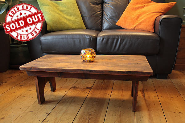 Rustic Low Coffee Table Restored - Arte Povera - 1
