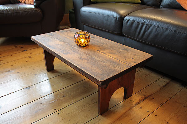 Rustic Low Coffee Table Restored - Arte Povera - 2