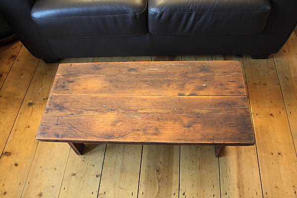 Rustic Low Coffee Table Restored - Arte Povera - 5