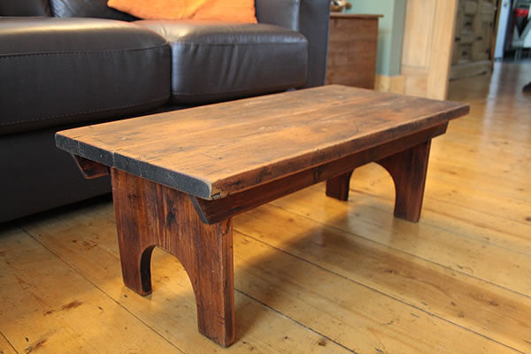 Rustic Low Coffee Table Restored - Arte Povera - 4