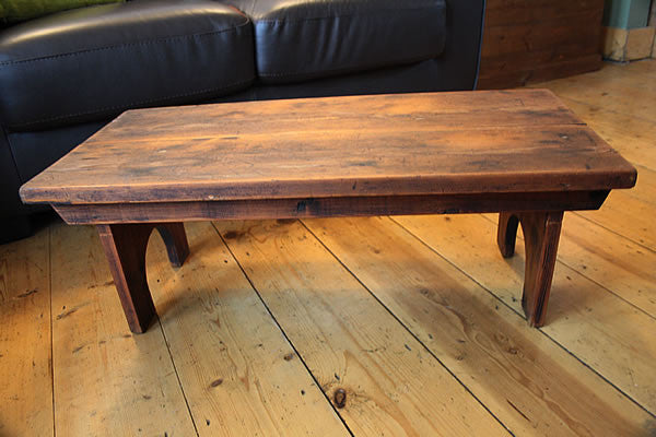 Rustic Low Coffee Table Restored - Arte Povera - 3