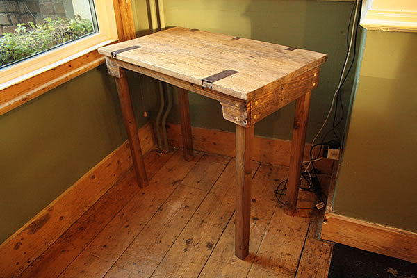 Rustic Computer Desk From Vintage Trunk