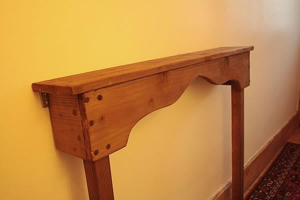 Handmade Narrow Table Hallway Console - Arte Povera - 2