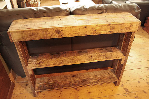 Console Table Sofa/Hallway Table 2 Drawers 2 Shelves Made With Pallet Wood - Arte Povera - 4