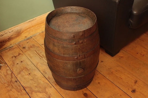 French Vintage Wooden Barrel Restored - Arte Povera - 2