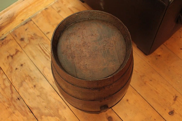 French Vintage Wooden Barrel Restored - Arte Povera - 3