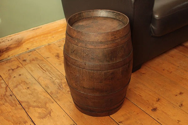 French Vintage Wooden Barrel Restored - Arte Povera - 4
