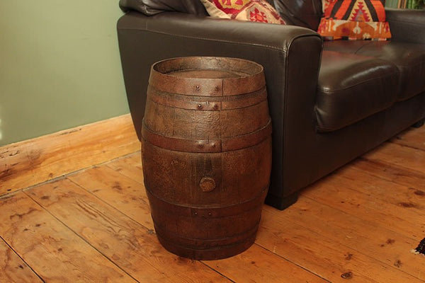 French Vintage Wooden Barrel Restored - Arte Povera - 5