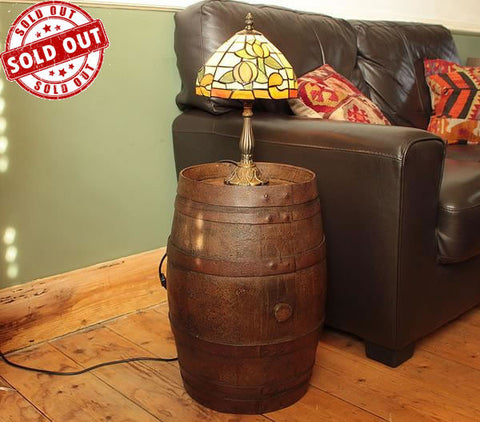 French Vintage Wooden Barrel Restored - Arte Povera - 1