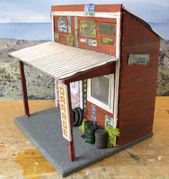 Old Garage On Route 66 - Scale 1/18 - Arte Povera - 3