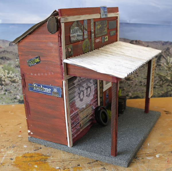 Old Garage On Route 66 - Scale 1/18 - Arte Povera - 4